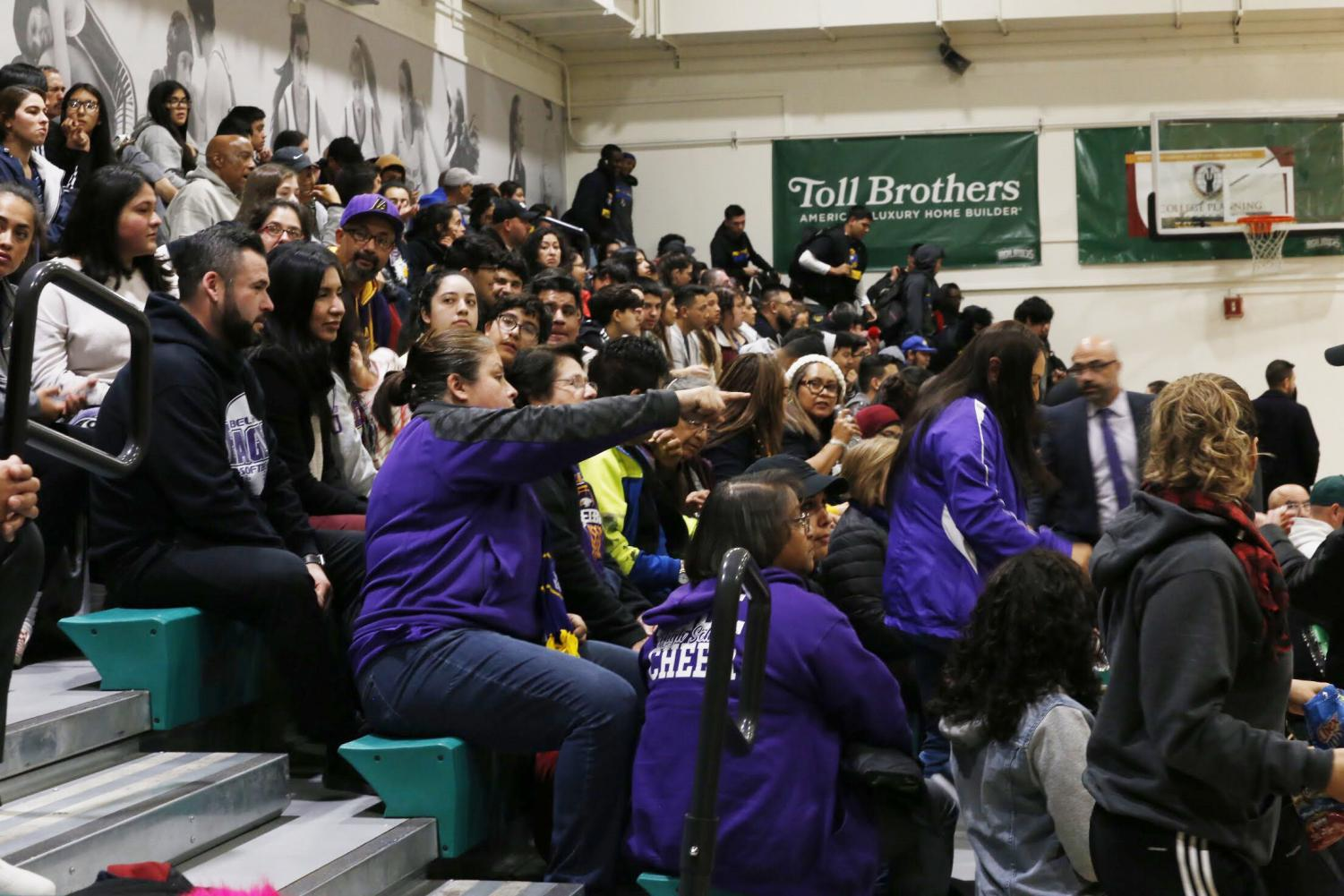 Many+Bell+High+School+teachers%2C+administration%2C+and+students+make+the+journey+out+to+Granada+Hills+on+a+Thursday+night+to+support+the+Girls+Basketball+Team+in+their+championship+game