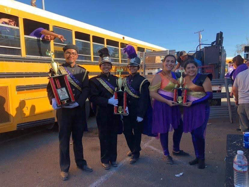 Bell Band and Color Guard Dominate the Field